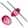 Twin 2-hole Bead 2.5x5mm Transparent Pink Dyed